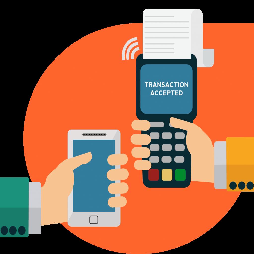 imagem sobre transação de carteira digital