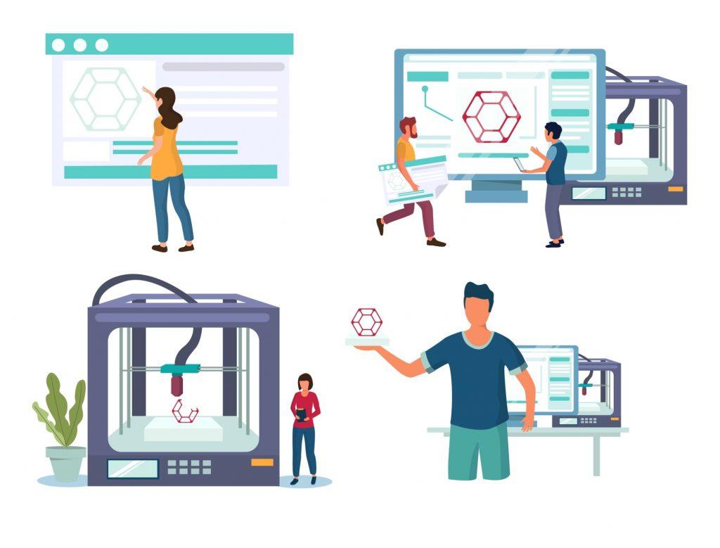 Benefícios do Processo de manufatura na Indústria 4.0 por adição (Impressão 3D)